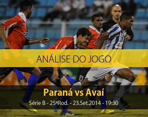 Análise do jogo: Paraná vs Avaí (23 Setembro 2014)