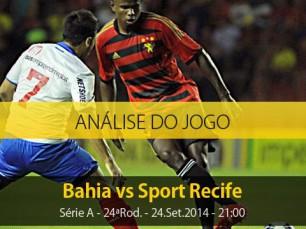 Análise do jogo: Bahia X Sport Recife (24 Setembro 2014)