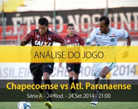 Análise do jogo: Chapecoense vs Atlético Paranaense (24 Setembro 2014)
