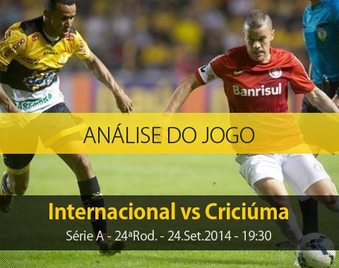 Análise do jogo: Internacional vs Criciúma (24 Setembro 2014)