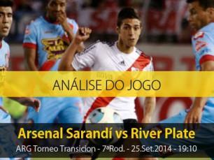 Análise do jogo: Arsenal Sarandí vs River Plate (25 Setembro 2014)