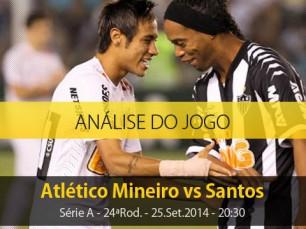 Análise do jogo: Atlético Mineiro vs Santos (25 Setembro 2014)