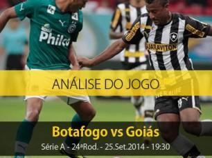 Análise do jogo: Botafogo vs Goiás (25 Setembro 2014)