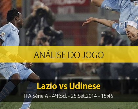 Análise do jogo: Lazio vs Udinese (25 Setembro 2014)