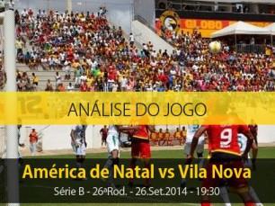 Análise do jogo: América de Natal vs Vila Nova (26 Setembro 2014)