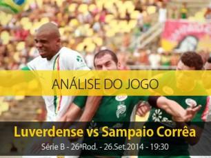 Análise do jogo: Luverdense vs Sampaio Corrêa (26 Setembro 2014)