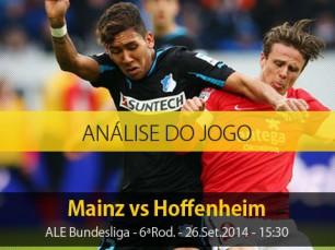 Análise do jogo: Mainz vs Hoffenheim (26 Setembro 2014)