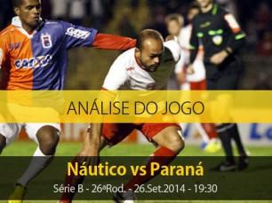 Análise do jogo: Náutico vs Paraná (26 Setembro 2014)