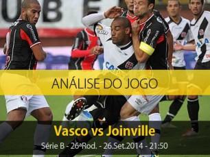 Análise do jogo: Vasco X Joinville (26 Setembro 2014)