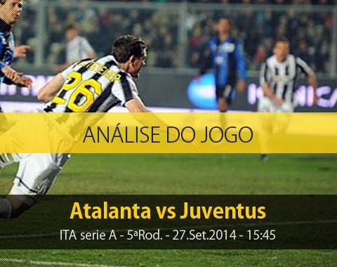 Análise do jogo: Atalanta X Juventus (27 Setembro 2014)