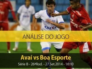 Análise do jogo: Avaí X Boa Esporte (27 Setembro 2014)