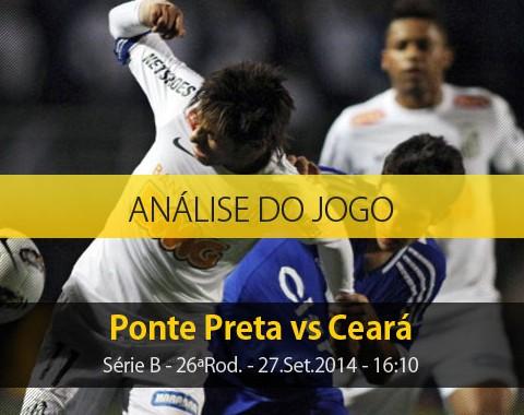 Análise do jogo: Ponte Preta vs Ceará (27 Setembro 2014)
