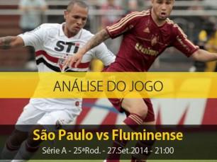 Análise do jogo: São Paulo X Fluminense (27 Setembro 2014)