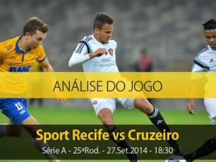 Análise do jogo: Sport X Cruzeiro (27 Setembro 2014)