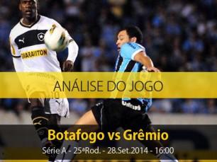 Análise do jogo: Botafogo vs Grêmio (28 Setembro 2014)