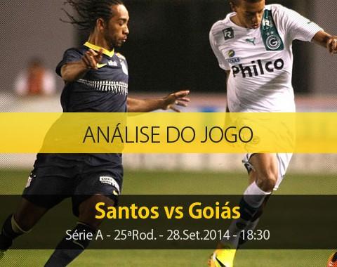 Análise do jogo: Santos vs Goiás (28 Setembro 2014)