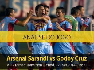Análise do jogo: Arsenal de Sarandí vs Godoy Cruz (29 Setembro 2014)