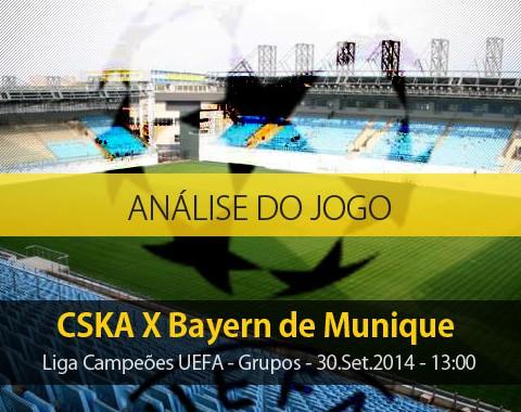 Análise do jogo: CSKA X Bayern de Munique (30 Setembro 2014)