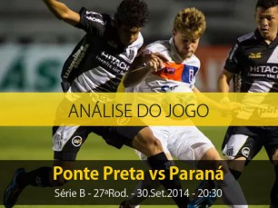Análise do jogo: Ponte Preta vs Paraná (30 Setembro 2014)