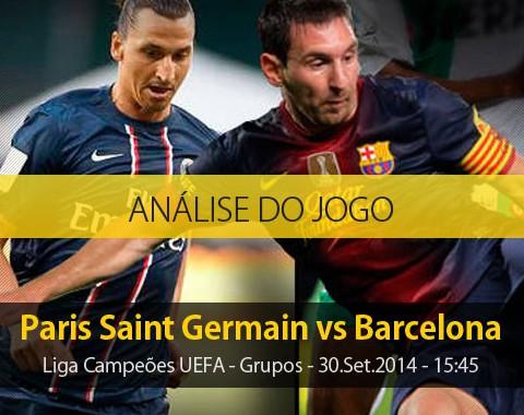 Análise do jogo: PSG X Barcelona (30 Setembro 2014)