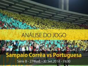 Análise do jogo: Sampaio Corrêa vs Portuguesa (30 Setembro 2014)