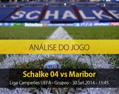 Análise do jogo: Schalke 04 vs Maribor (30 Setembro 2014)