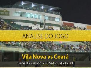 Análise do jogo: Vila Nova vs Ceará (30 Setembro 2014)