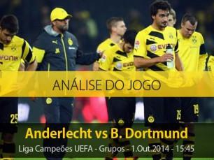 Análise do jogo: Anderlecht vs Borussia Dortmund (1 Outubro 2014)