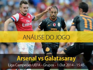Análise do jogo: Arsenal vs Galatasaray (1 Outubro 2014)