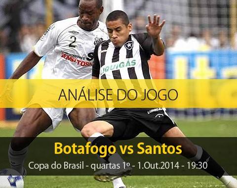 Análise do jogo: Botafogo X Santos (1 Outubro 2014)