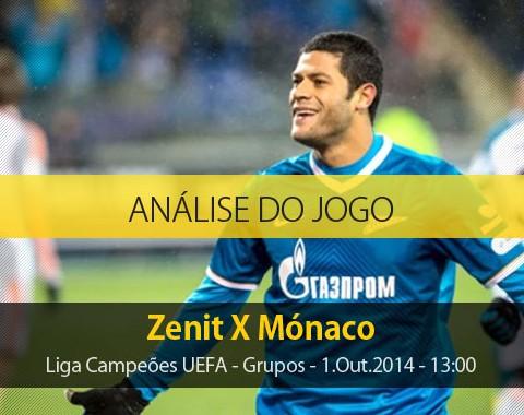 Análise do jogo: Zenit vs Mónaco (1 Outubro 2014)