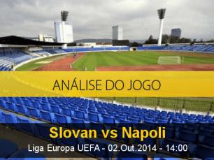 Análise do jogo: Slovan Bratislava vs Napoli (2 Outubro 2014)