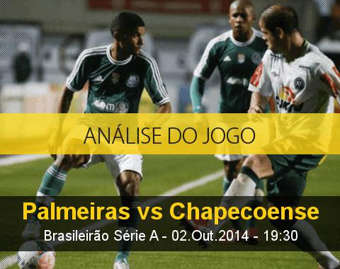 Análise do jogo: Palmeiras vs Chapecoense (2 Outubro 2014)
