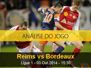 Análise do jogo: Reims vs Bordeaux (3 Outubro 2014)