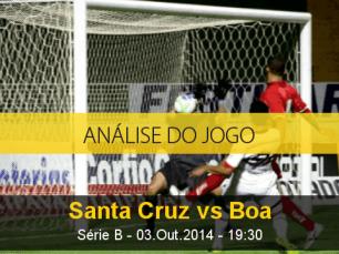 Análise do jogo: Santa Cruz vs Boa Esporte (3 Outubro 2014)