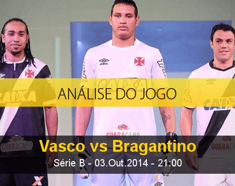 Análise do jogo: Vasco da Gama vs Bragantino (3 Outubro 2014)