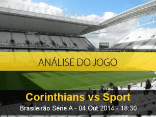 Análise do jogo: Corinthians vs Sport (4 Outubro 2014)