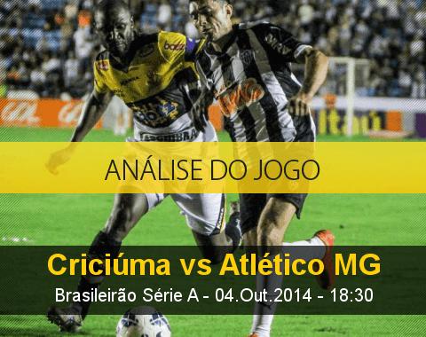 Análise do jogo: Criciúma vs Atlético Mineiro (4 Outubro 2014)