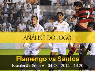 Análise do jogo: Flamengo vs Santos (4 Outubro 2014)