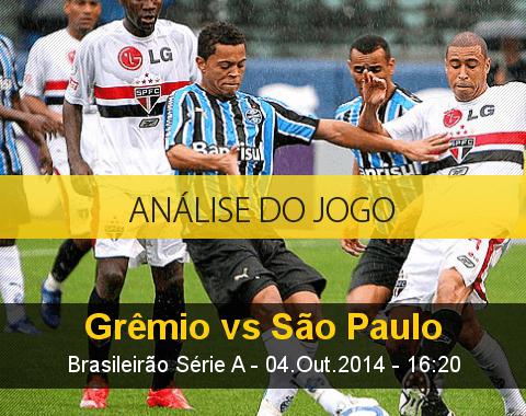 Análise do jogo: Grêmio vs São Paulo (4 Outubro 2014)