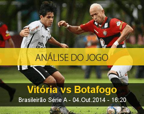 Análise do jogo: Vitória vs Botafogo (4 Outubro 2014)