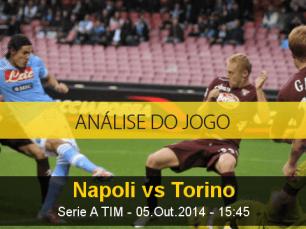 Análise do jogo: Nápoles vs Torino (5 Outubro 2014)