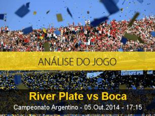 Análise do jogo: River Plate vs Boca Juniors (5 Outubro 2014)