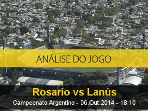Análise do jogo: Rosário Central vs Lanús (6 Outubro 2014)