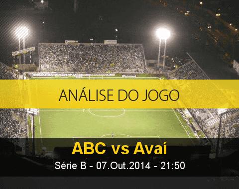 Análise do jogo: ABC vs Avaí (7 Outubro 2014)