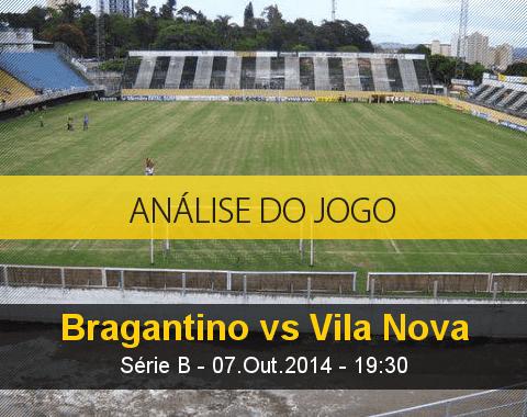 Análise do jogo: Bragantino vs Vila Nova  (7 Outubro 2014)
