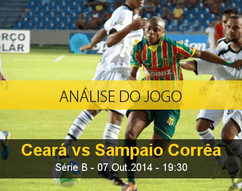Análise do jogo: Ceará vs Sampaio Corrêa (7 Outubro 2014)