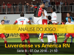 Análise do jogo: Luverdense vs América de Natal (7 Outubro 2014)