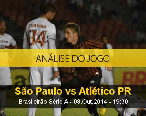 Análise do jogo: São Paulo vs Atlético Paranaense (8 Outubro 2014)