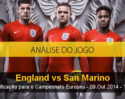 Análise do jogo: Inglaterra vs San Marino (9 Outubro 2014)